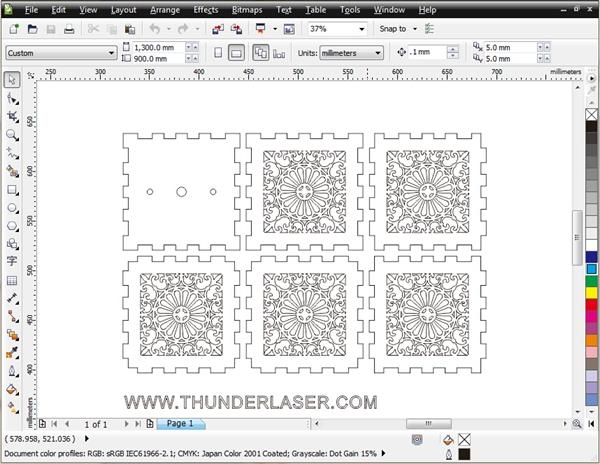 灯罩(菊花)设计图