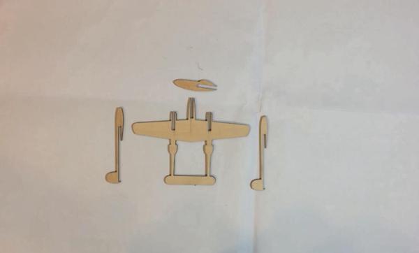P-38战斗机激光切割设计图