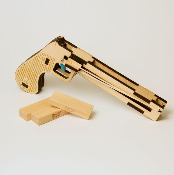 积木玩具枪设计图