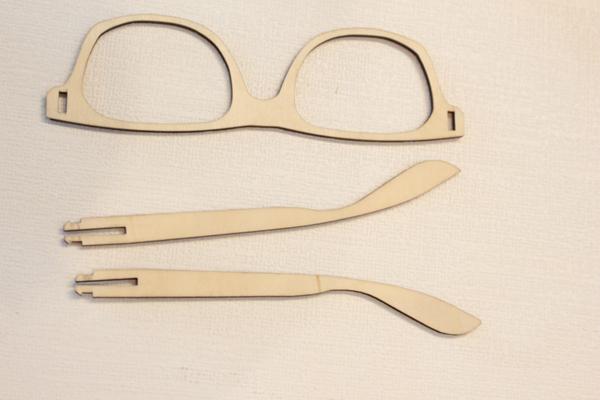 木质眼镜设计图